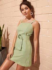 7a8fe6f45 Random Sunflower Print Crisscross Back A Line Cami Dress