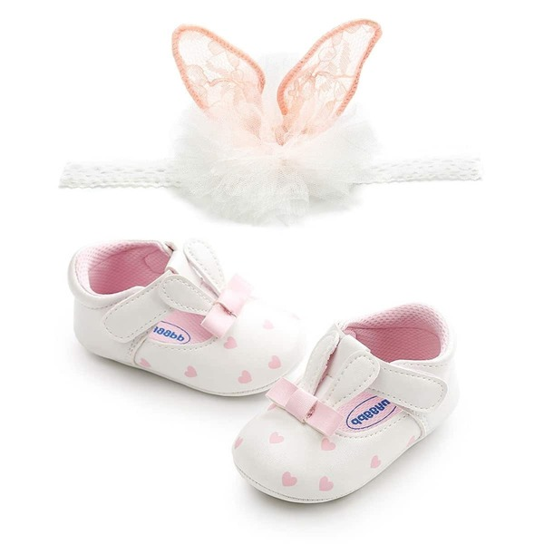 Baby Heart Pattern Flats, Multicolor