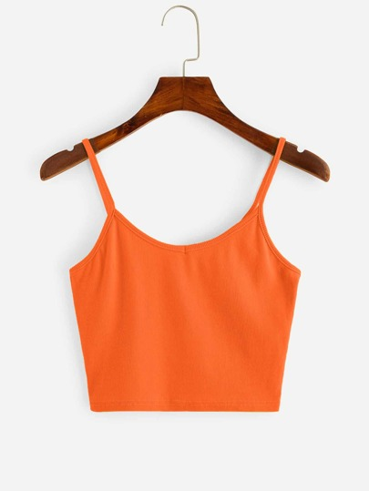 b798def7aba04 Neon Orange Crop Cami Top