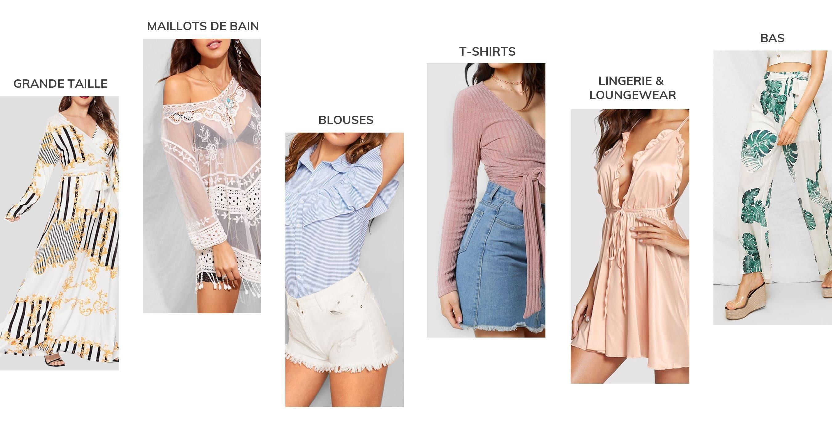 Vêtements pour femmes soldes sur la collection femme shein