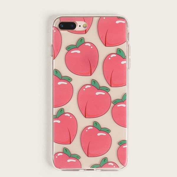 Peach Pattern iPhone Case, Pink