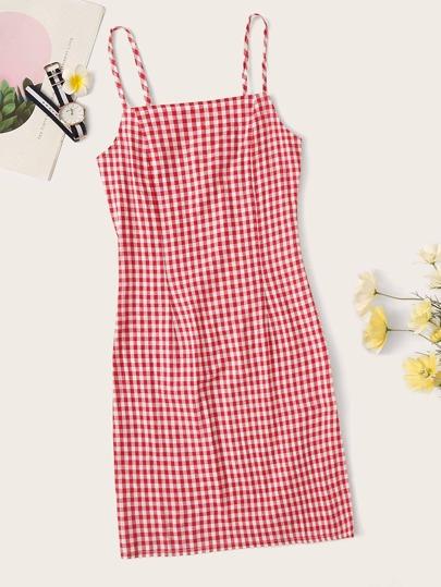 3f87d60352 Gingham Cami Dress