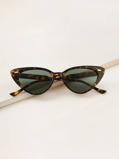 c557784a710c Tortoiseshell Frame Cat Eye Sunglasses