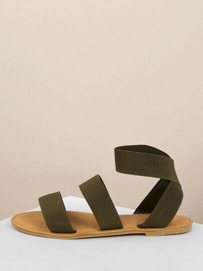 2142a027d Elastic Band Gladiator Flat Sandals