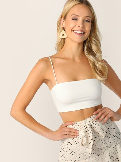 8952a13770 Solid Crop Cami Top