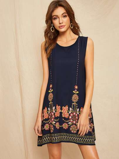 b543d9c0f44d Floral Embroidered Dress
