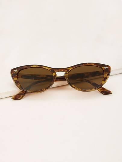 515b9182db9 Tortoiseshell Frame Cat Eye Sunglasses