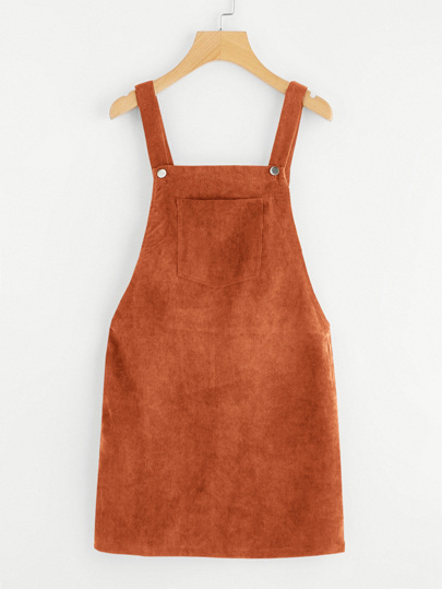4418f1ad19 Pocket Front Cord Pinafore Dress