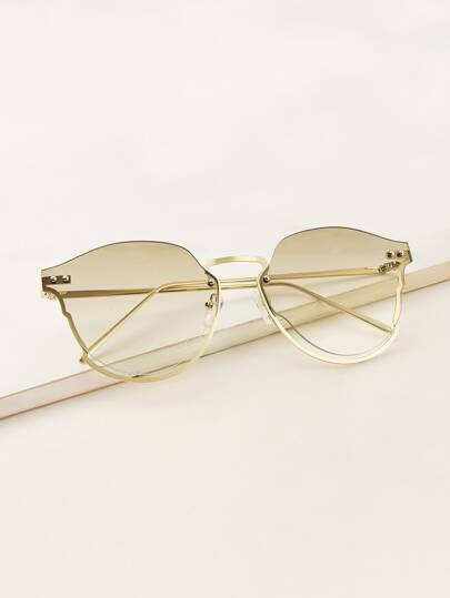 d215b813796 Semi Rimless Frame Sunglasses