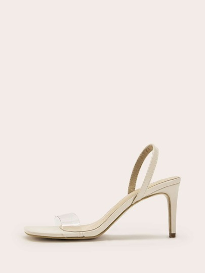 7000fa9355e Transparent Slingback Stiletto Heels