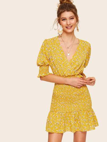 f04905806dc396 Schiffy Eyelet Balloon Sleeve ALine Peasant Dress in 2019