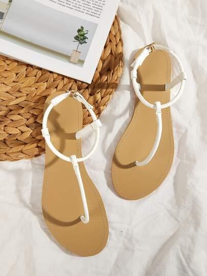 e44161f0de46 T-strap Toe Post Sandals
