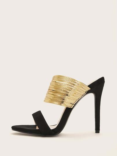 3ae6564d085 Open Toe Strappy Stiletto Heels