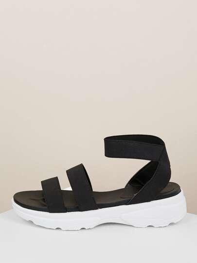 ada3dff2c7a Elastic Straps Chunky Sneaker Sandals