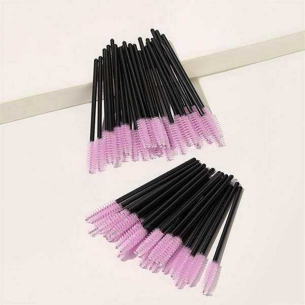 Disposable Eyelash Brush 50pcs, Pink