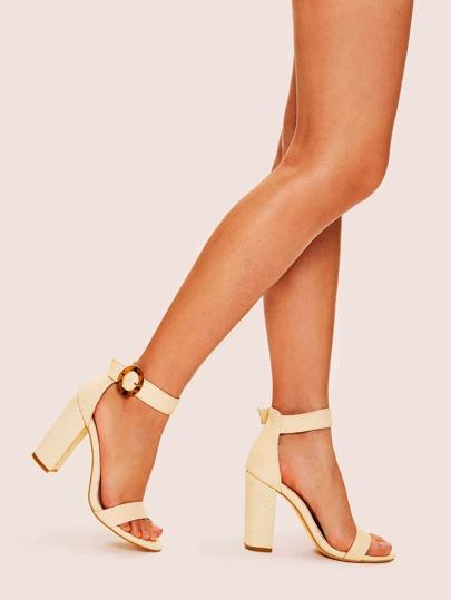 5a22b27b0632 Ankle Strap Chunky Heels