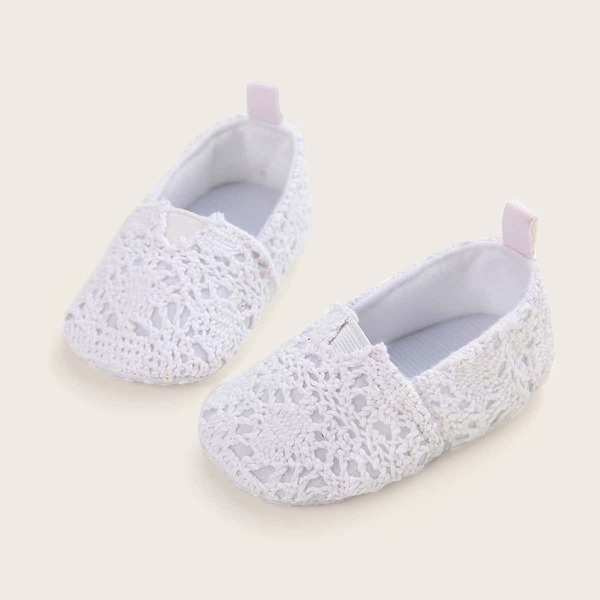 Baby Plaited Detail Flats, White