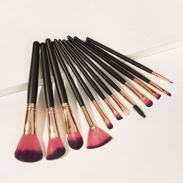 Two Tone Handle Makeup Brush 12pcs