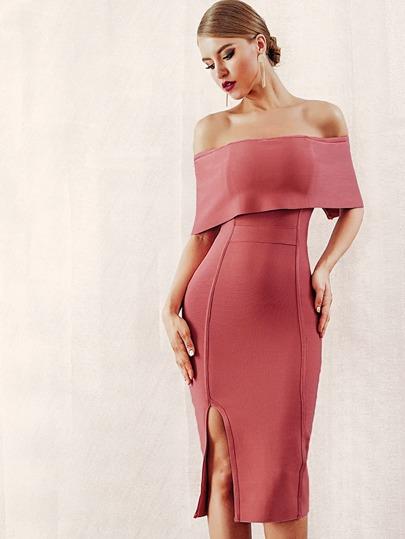 a75fb5d3a0 Color Block Bow Tie Waist Buttons Shirtwaist Dress   SHEIN