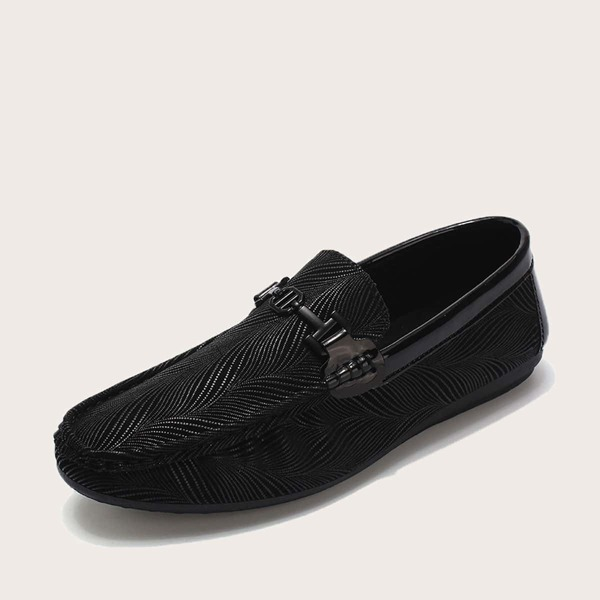 Men Textured Slip On Loafers