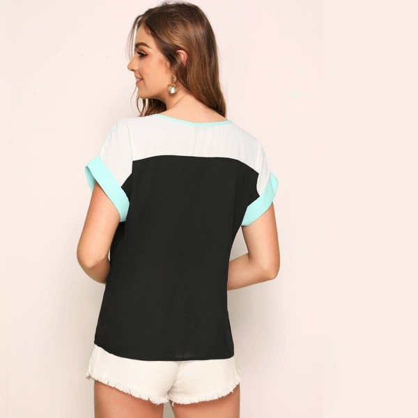 Short Sleeve Cut-and-Sew Top