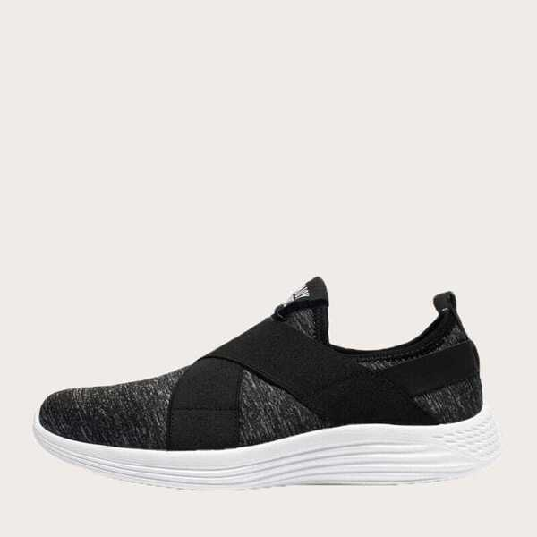 Men Cross Strap Slip On Sneakers