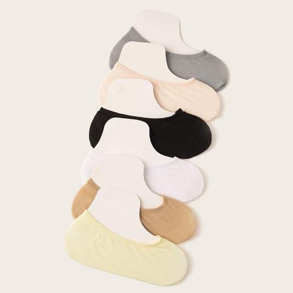 Simple Invisible Socks 6pairs, Multicolor