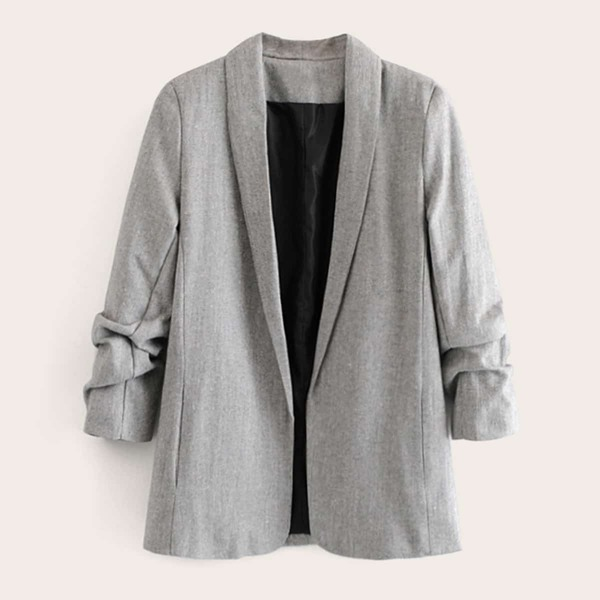 Shawl Collar Space Dye Blazer, Grey