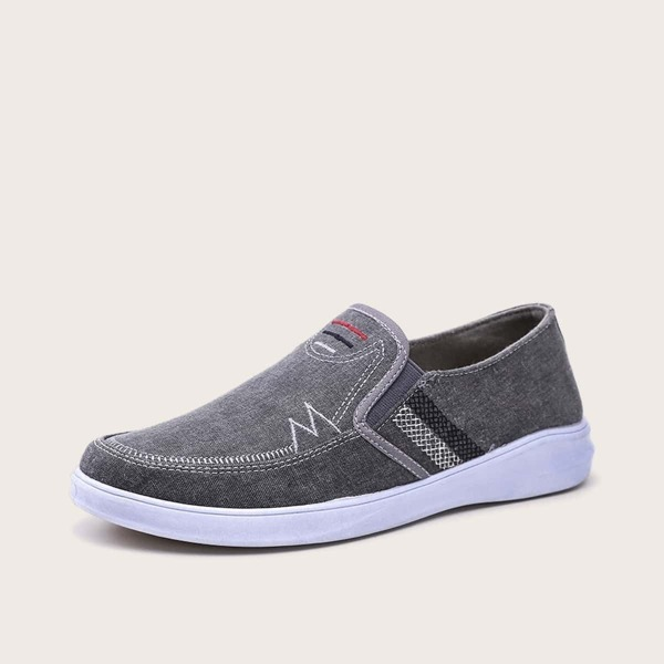 Men Stitch Detail Slip On Loafers