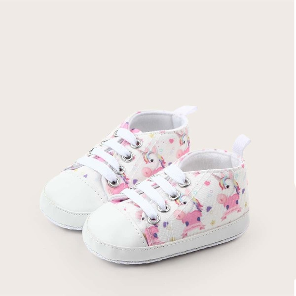 Baby Girls Random Unicorn Print Sneakers, Multicolor