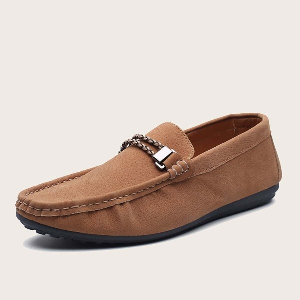 Men Suede Slip On Loafers